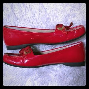 Ellen Tracy Red slip on shoes like new